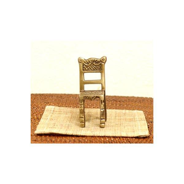 アジアン雑貨 バリ ♪真鍮 チェアーカードホルダー(角型)♪ 写真立て フォトスタンド カードクリップ エスニック|yayapapus-y|06