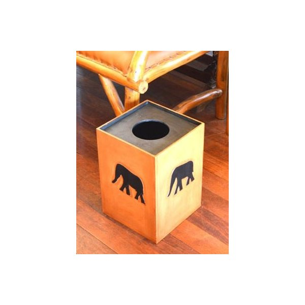 アジアン雑貨 バリ ♪アニマルダストボックス ゾウ♪ ごみ箱 木製 エスニック|yayapapus-y