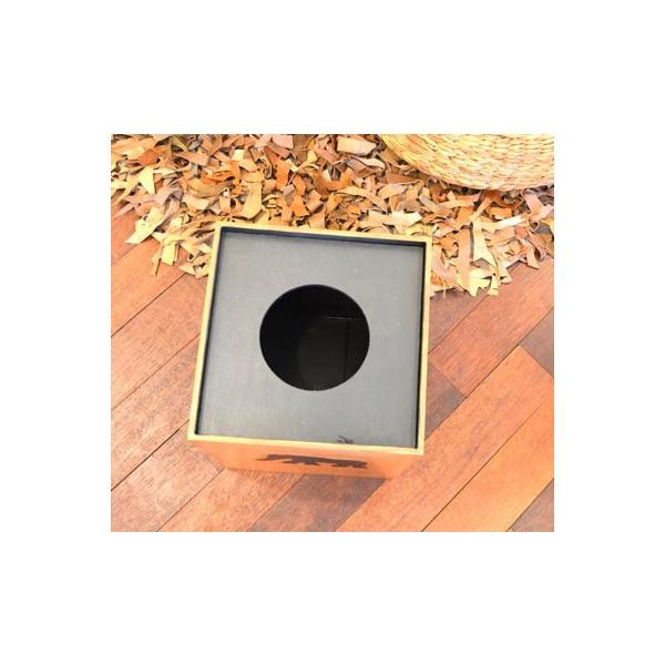 アジアン雑貨 バリ ♪アニマルダストボックス ゾウ♪ ごみ箱 木製 エスニック|yayapapus-y|06