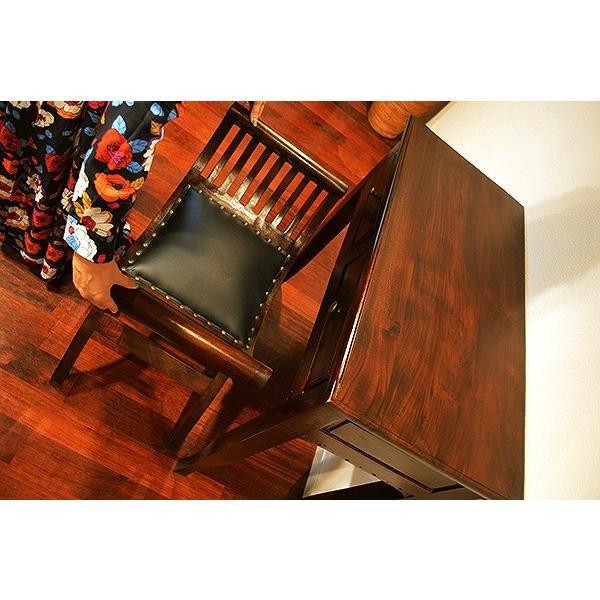 【11月中旬入荷予定】アジアン家具 バリ ♪猫足チークコンソールテーブル&カルティニチェア SET♪ デスク チェア セット ドレッサー 木製|yayapapus-y|03