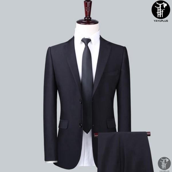 メンズ スーツ 上下セット セットアップ 2つボタン フォーマル 紳士服 就活 面接 通勤 出張 セレモニー リクルート テーラード ジャケット|yayushop