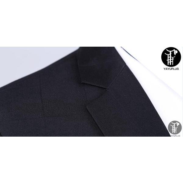 メンズ スーツ 上下セット セットアップ 2つボタン フォーマル 紳士服 就活 面接 通勤 出張 セレモニー リクルート テーラード ジャケット|yayushop|06