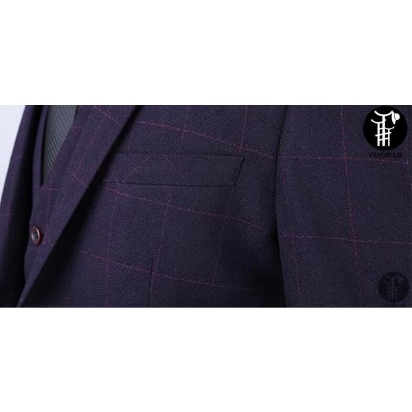 メンズ スーツ 上下セット 2つボタン セットアップ テーラード チェック柄 ジャケット パンツ スラックス フォーマル セレモニー 紳士服 出張 yayushop 04