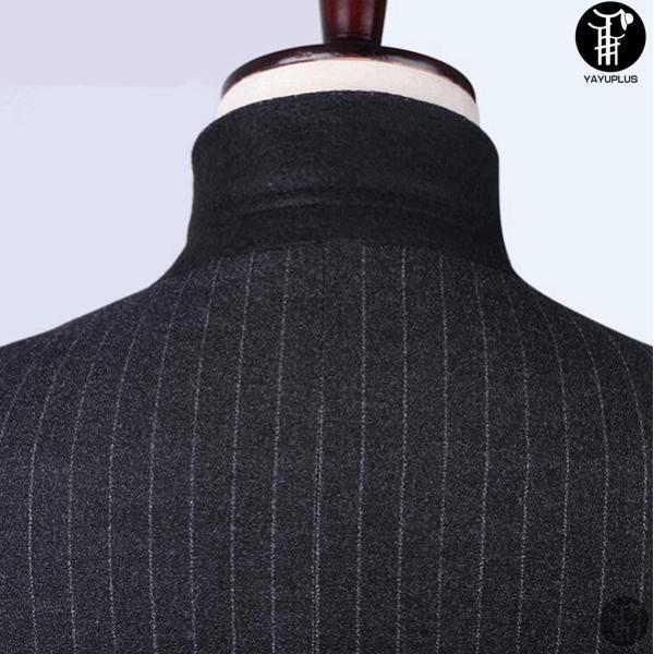 メンズ スーツ 上下セット 2つボタン ストライプ 紳士服 ジャケット パンツ スラックス セットアップ テーラード フォーマル セレモニー 出張 就活|yayushop|02