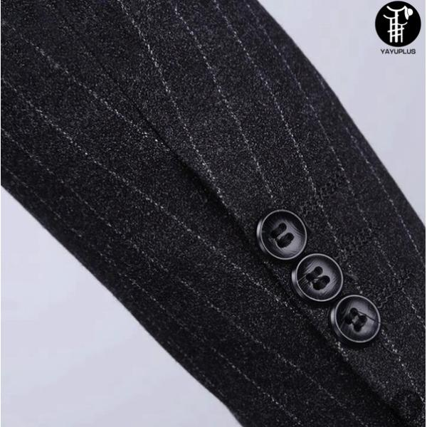 メンズ スーツ 上下セット 2つボタン ストライプ 紳士服 ジャケット パンツ スラックス セットアップ テーラード フォーマル セレモニー 出張 就活|yayushop|03