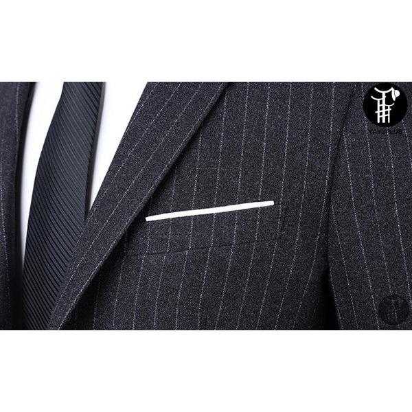 メンズ スーツ 上下セット 2つボタン ストライプ 紳士服 ジャケット パンツ スラックス セットアップ テーラード フォーマル セレモニー 出張 就活|yayushop|04