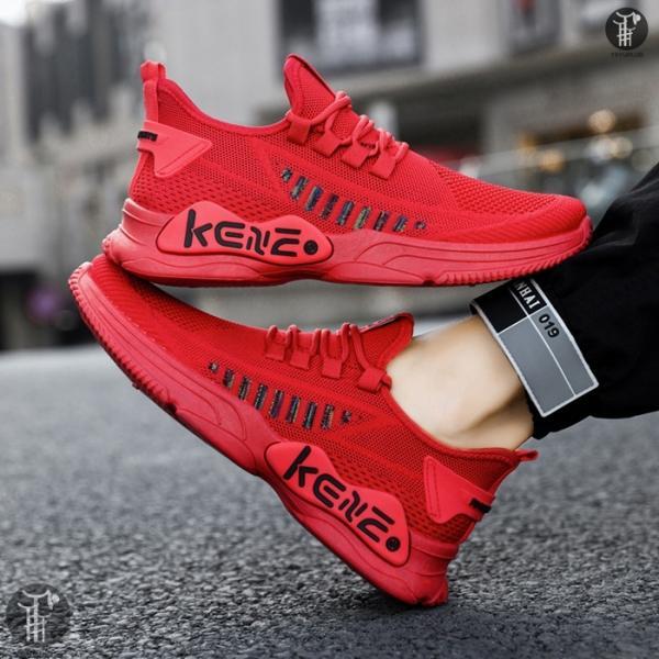 アッパーニットスニーカーランニングシューズメンズシューズ通気性厚底おしゃれ軽量靴ジョギングウォーキング歩きやすい