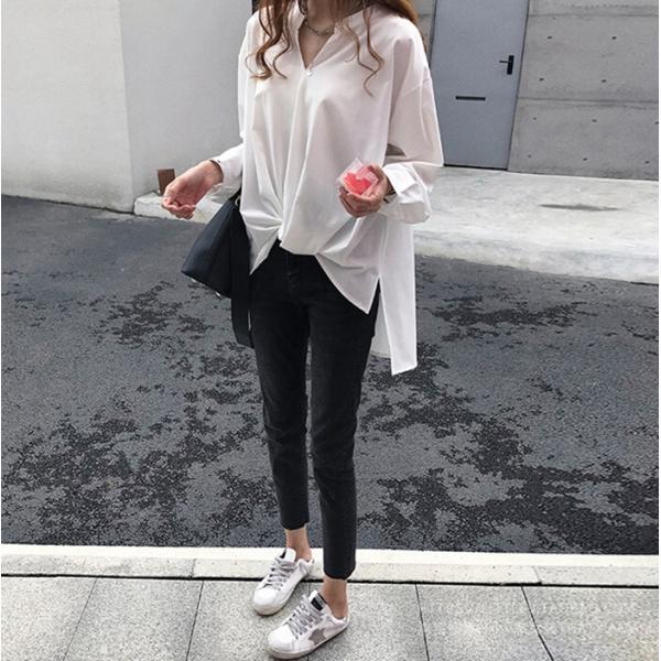 ブラウス レディース シャツ トップス 母の日 5種類 Vネック 長袖シャツ 新作 春夏 代引不可 一部分当日発送|yayushop|11
