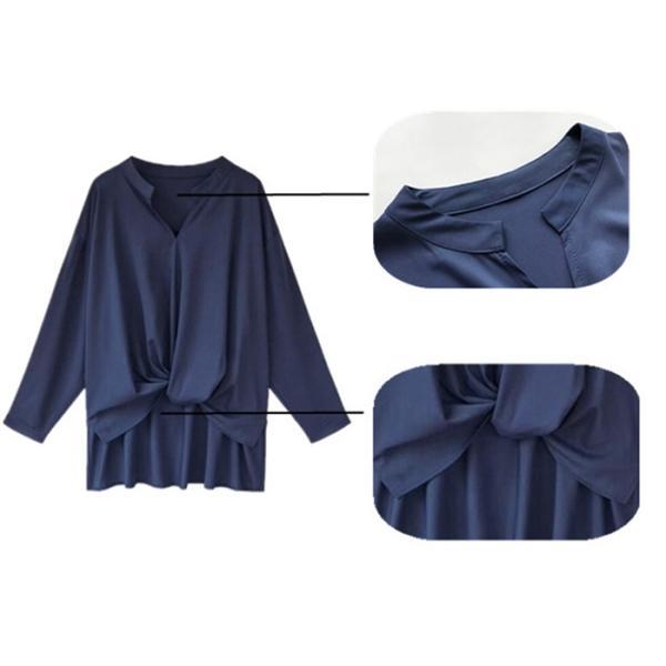 ブラウス レディース シャツ トップス 母の日 5種類 Vネック 長袖シャツ 新作 春夏 代引不可 一部分当日発送|yayushop|12