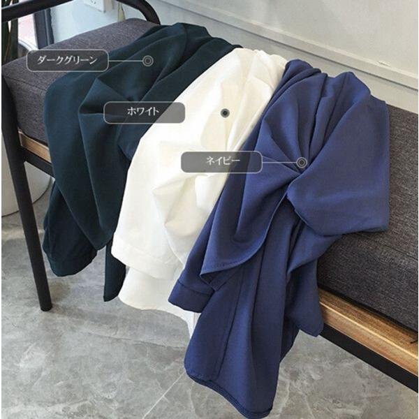 ブラウス レディース シャツ トップス 母の日 5種類 Vネック 長袖シャツ 新作 春夏 代引不可 一部分当日発送|yayushop|03