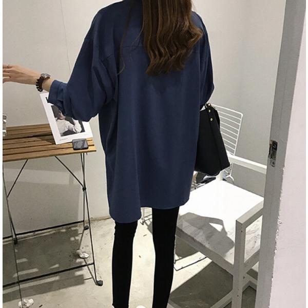 ブラウス レディース シャツ トップス 母の日 5種類 Vネック 長袖シャツ 新作 春夏 代引不可 一部分当日発送|yayushop|07