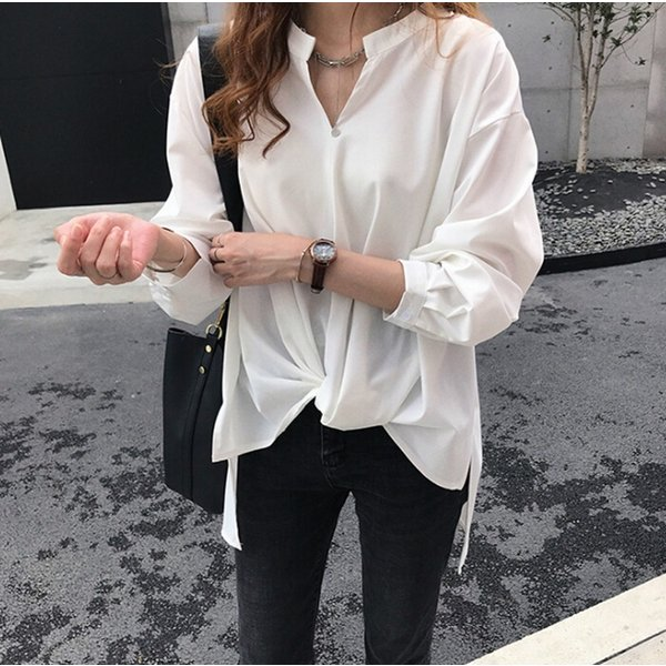 ブラウス レディース シャツ トップス 母の日 5種類 Vネック 長袖シャツ 新作 春夏 代引不可 一部分当日発送|yayushop|10