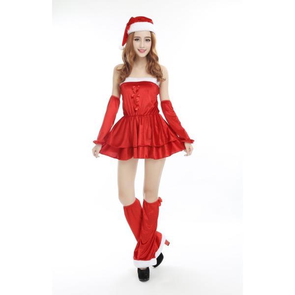 d6205c1420ba3 サンタ コスプレ 衣装 サンタクロース 衣装 サンタコスチューム サンタ コス サンタ 4点セット クリスマス X  ...
