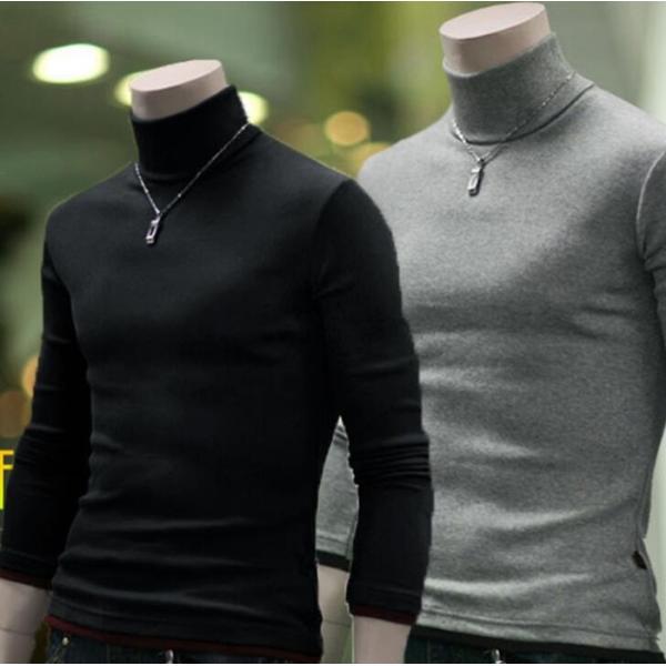 tシャツ メンズ トップス 無地 カジュアル タートルネック メンズ カットソー 長袖 Men's メンズ 代引不可|yayushop|02