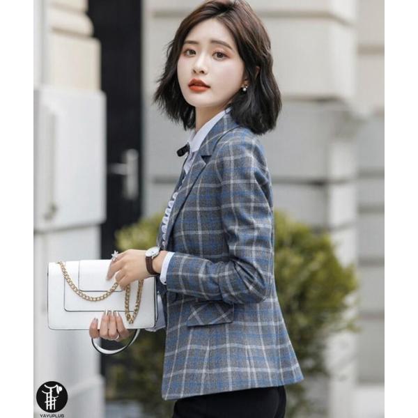 テーラードジャケット レディース ブレザー 春秋 スーツジャケット ビジネス フォーマル 通勤|yayushop|05