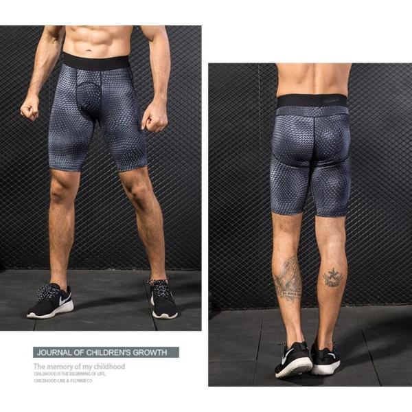 スポーツタイツ コンプレッションウェア タイツ メンズ スポーツウェア 吸汗速乾 ランニングタイツ ショートパンツ 着圧 代引不可|yayushop|03