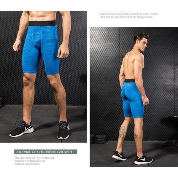 スポーツタイツ コンプレッションウェア タイツ メンズ スポーツウェア 吸汗速乾 ランニングタイツ ショートパンツ 着圧 代引不可|yayushop|04