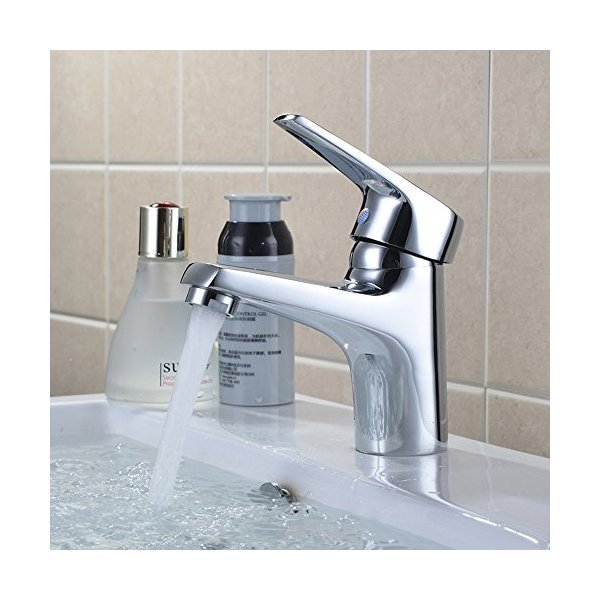 Wellbeingjp洗面用水栓シングル混合水栓単水栓混合水栓洗面台水栓シングルレバー洗面所浴室用水栓冷温