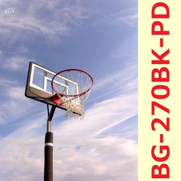 レイアップの練習もOK 透明ポリカーボネート ポールパッド付 BG-270BK-PD 極太ネット バスケットゴール 屋外 家庭用