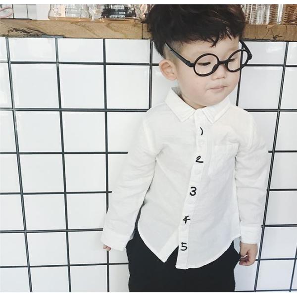 キッズ シャツ 白 紺 フォーマル 男の子 女の子 ユニセックス 子供服 メール便可|yellowweather|03