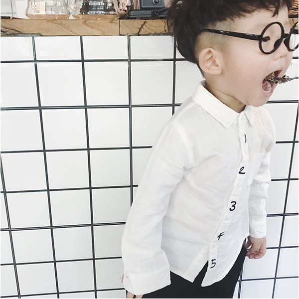キッズ シャツ 白 紺 フォーマル 男の子 女の子 ユニセックス 子供服 メール便180円可 yellowweather 04
