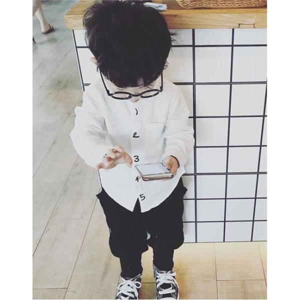 キッズ シャツ 白 紺 フォーマル 男の子 女の子 ユニセックス 子供服 メール便180円可|yellowweather|05