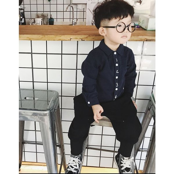 キッズ シャツ 白 紺 フォーマル 男の子 女の子 ユニセックス 子供服 メール便180円可 yellowweather 06