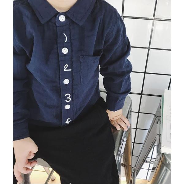 キッズ シャツ 白 紺 フォーマル 男の子 女の子 ユニセックス 子供服 メール便180円可 yellowweather 07