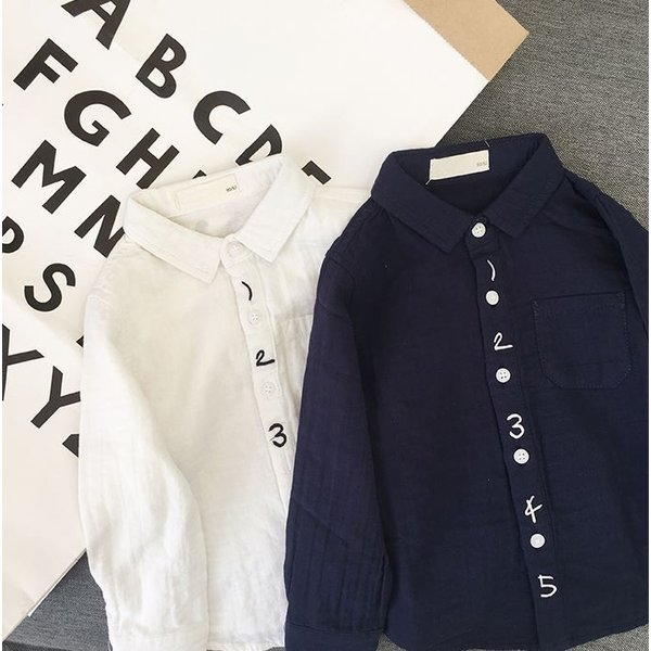 キッズ シャツ 白 紺 フォーマル 男の子 女の子 ユニセックス 子供服 メール便180円可|yellowweather|08