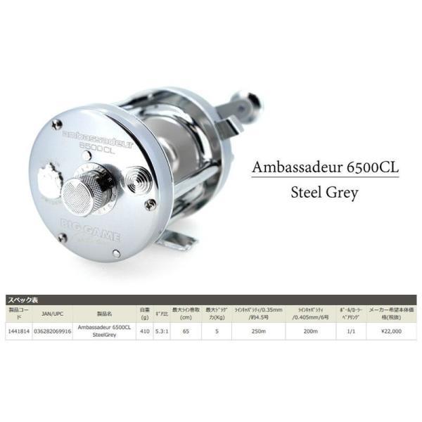 アブ AMB.6500CL STEEL GREY(右ハンドル) / アブガルシア リール アンバサダー