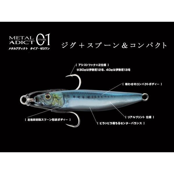 リトルジャック メタルアディクト タイプ01 METAL ADICT-01 30g #01 レーザーイワシ+リアルプリント