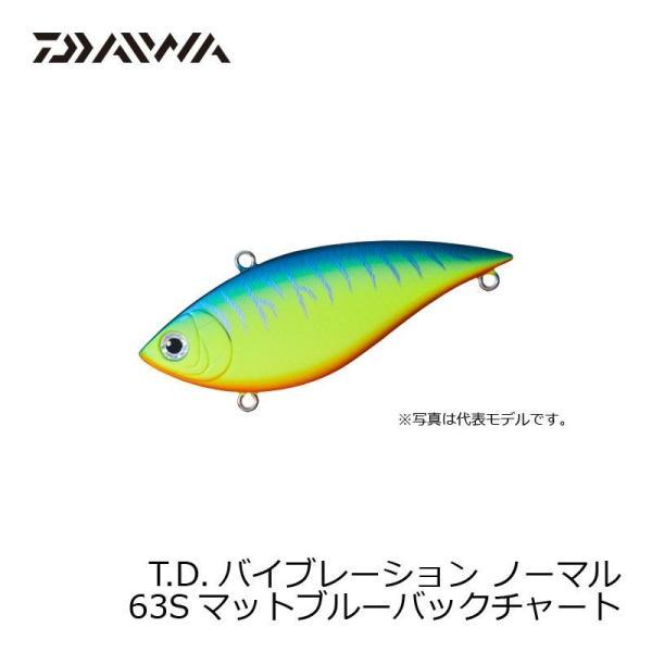ダイワ TDバイブレーション 63S マットブルーBチャート / バスプラグ バイブレーション TDバイブ