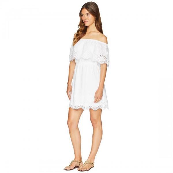 レディース 女性用 ドレス KENSIE CROCHET EMBROIDERED COTTON DRESS KS6K920S