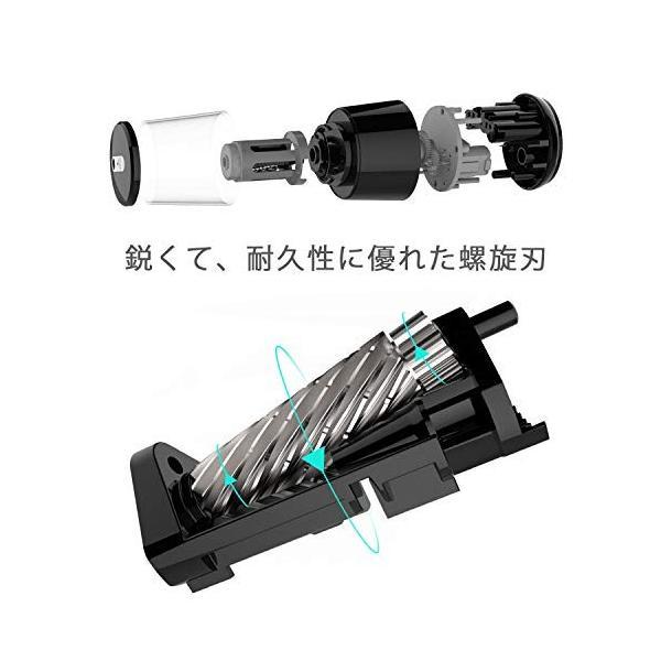 電動鉛筆削り スパイラル切削刃 自動停止機能(6-8mm) USB接続/乾電池利用可能 学校/職場/家対応(USBケーブルとACアダプター付属) yggdrasilltec 04