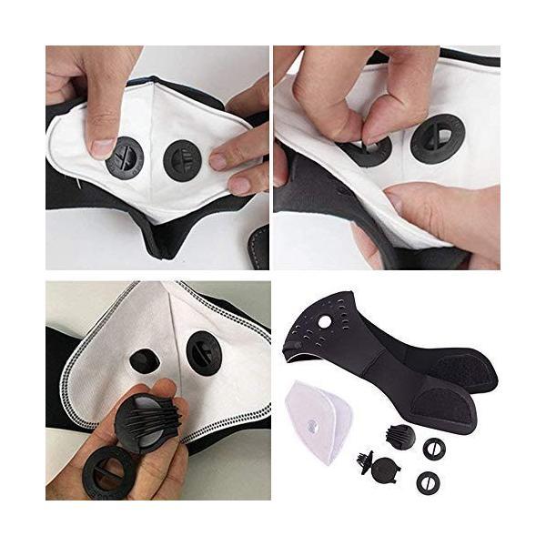 Acoretto 低酸素マスク トレーニング用 肺活量 強化 ダストフィルター 取り外し可能 洗える マジックテープ式 yggdrasilltec 06