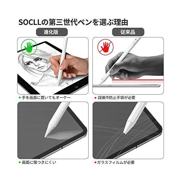 SOCLL タッチペン ipad ペンシル アイパッド スタイラスペン 【進化版: 先端丸み】 2018年以降のiPad向け(ipad mini5 i|yggdrasilltec|02