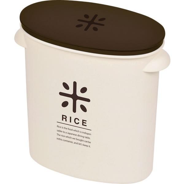米びつ RICE お米袋のままストック 5kg用 ブラウン HB-2166 | おしゃれ 米 収納 容器 コンパクト 計量カップ 米櫃 5キロ