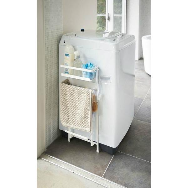 山崎実業 洗濯機横 マグネット 収納ラック プレート ホワイト|yh-beans|03