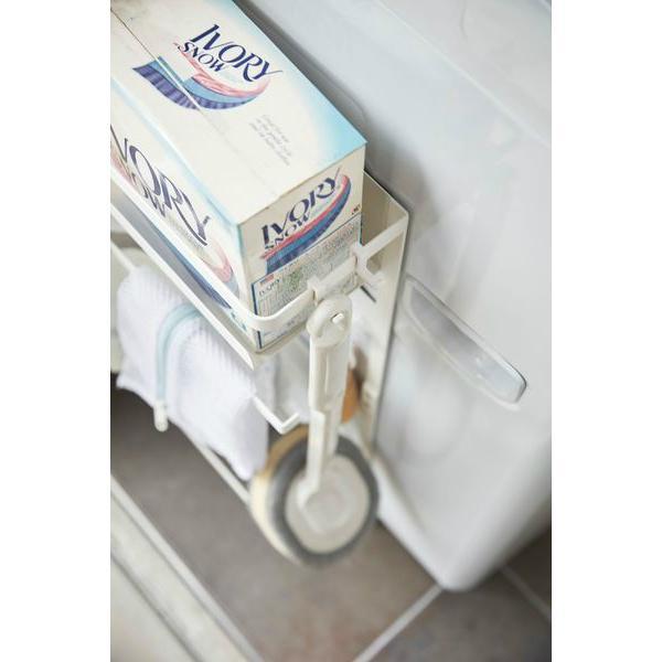 山崎実業 洗濯機横 マグネット 収納ラック プレート ホワイト|yh-beans|04