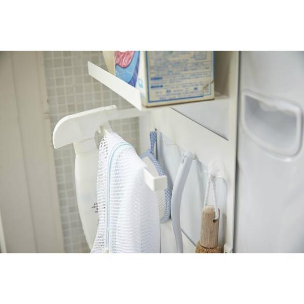 山崎実業 洗濯機横 マグネット 収納ラック プレート ホワイト|yh-beans|06