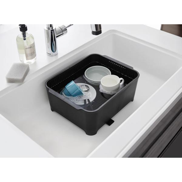 山崎実業 タワー 水切りセット (洗い桶&水切りカゴ) ブラック 3590|yh-beans|04