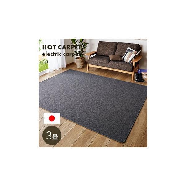|ホットカーペット 3畳 本体 195x235cm 電気カーペット カーペット 3帖 送料無料