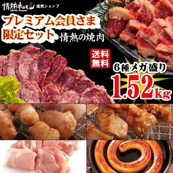 焼き肉 バーベキューセット 焼肉セット プレミアム会員限定セット 計1.52kg 約4人前 BBQ 焼肉