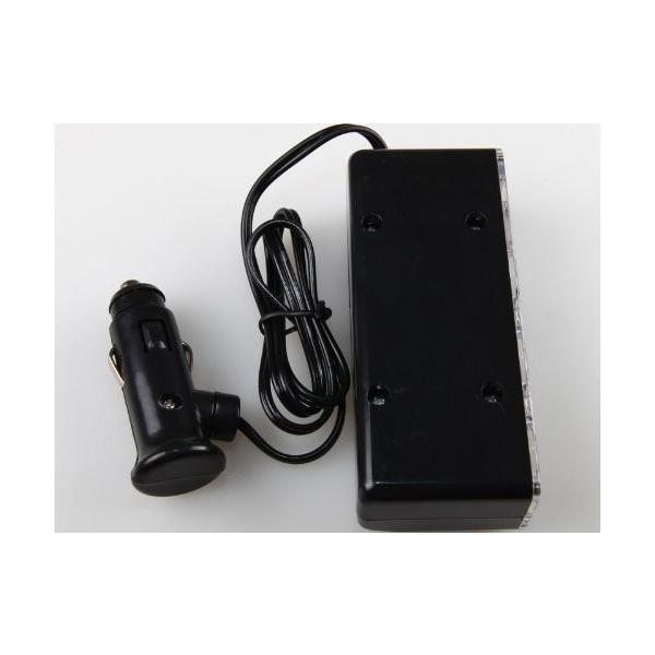 シガーソケット チャージ 3連 分配器 変換器 アダプター USB 充電 スマホ 車載 ブラック 送料無料 12/24V|yiyi|03