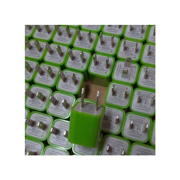 送料無料 ACアダプター充電 家庭用コンセント iphone ipod スマートフォン1個 ブラックイエローブルーレッドピンクパープルグリーンカラーバリエーション|yiyi|12