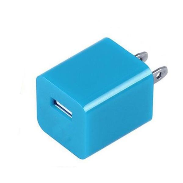 送料無料 ACアダプター充電 家庭用コンセント iphone ipod スマートフォン1個 ブラックイエローブルーレッドピンクパープルグリーンカラーバリエーション|yiyi|04