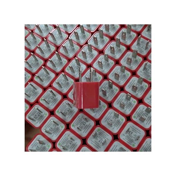 送料無料 ACアダプター充電 家庭用コンセント iphone ipod スマートフォン1個 ブラックイエローブルーレッドピンクパープルグリーンカラーバリエーション|yiyi|10