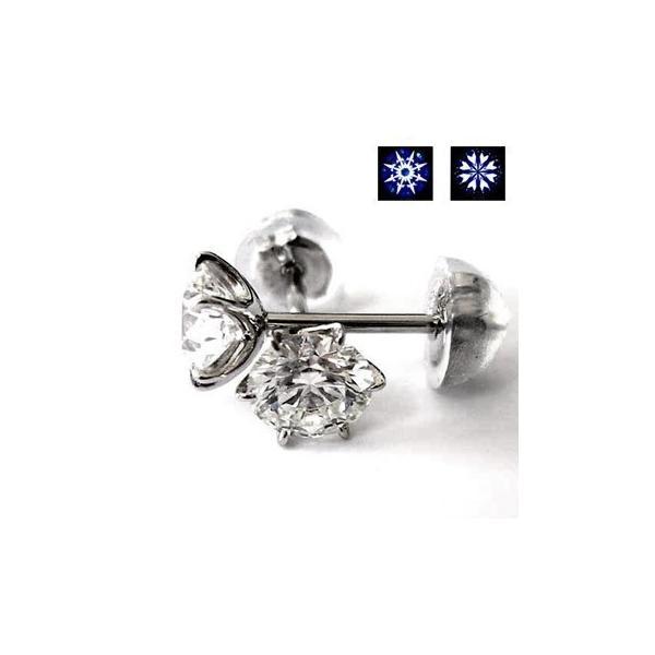 現品特価ダイヤモンドピアス 1.041ct D-VS2-3EX.H&C 中央宝石研究所.鑑定書付