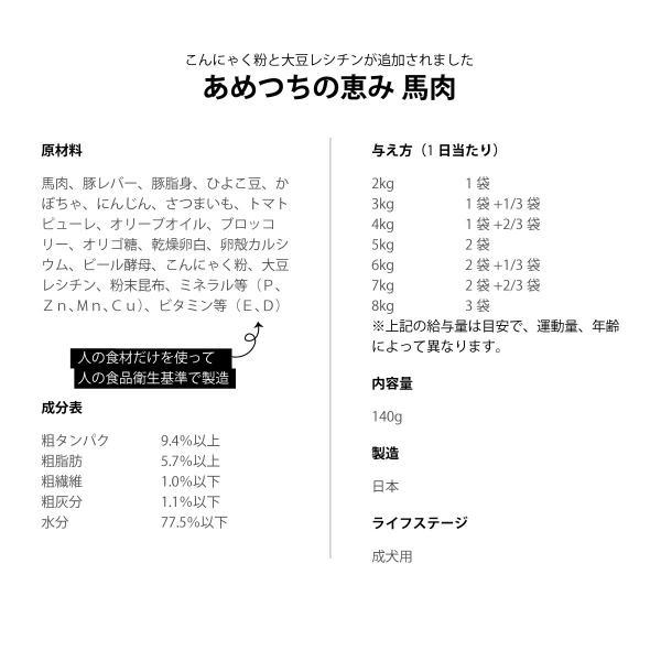 あめつちの恵み 馬肉 お徳用パック(11袋)送料無料|ykozakka|02