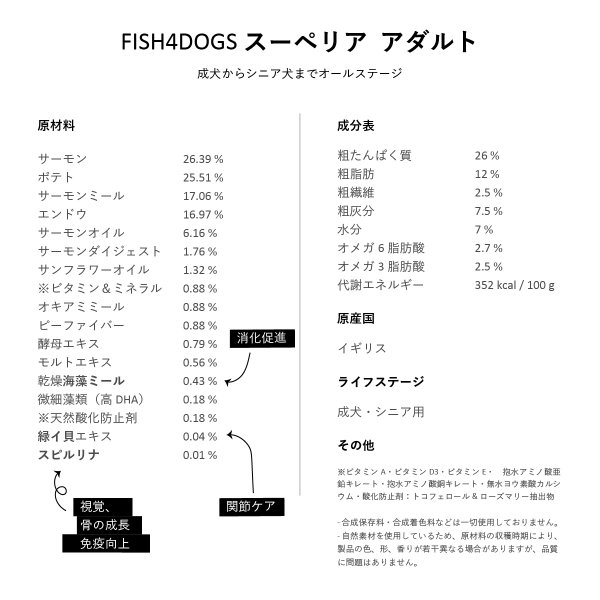 FISH4DOGS(フィッシュ4ドッグ)スーペリア アダルト 1.5kg送料無料|ykozakka|06